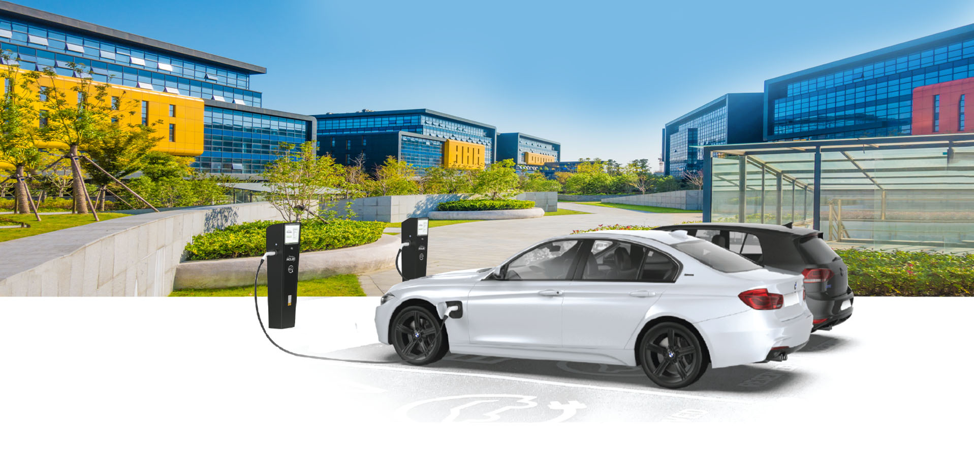 Commercial Work place Electric Vehicle Charging Stations