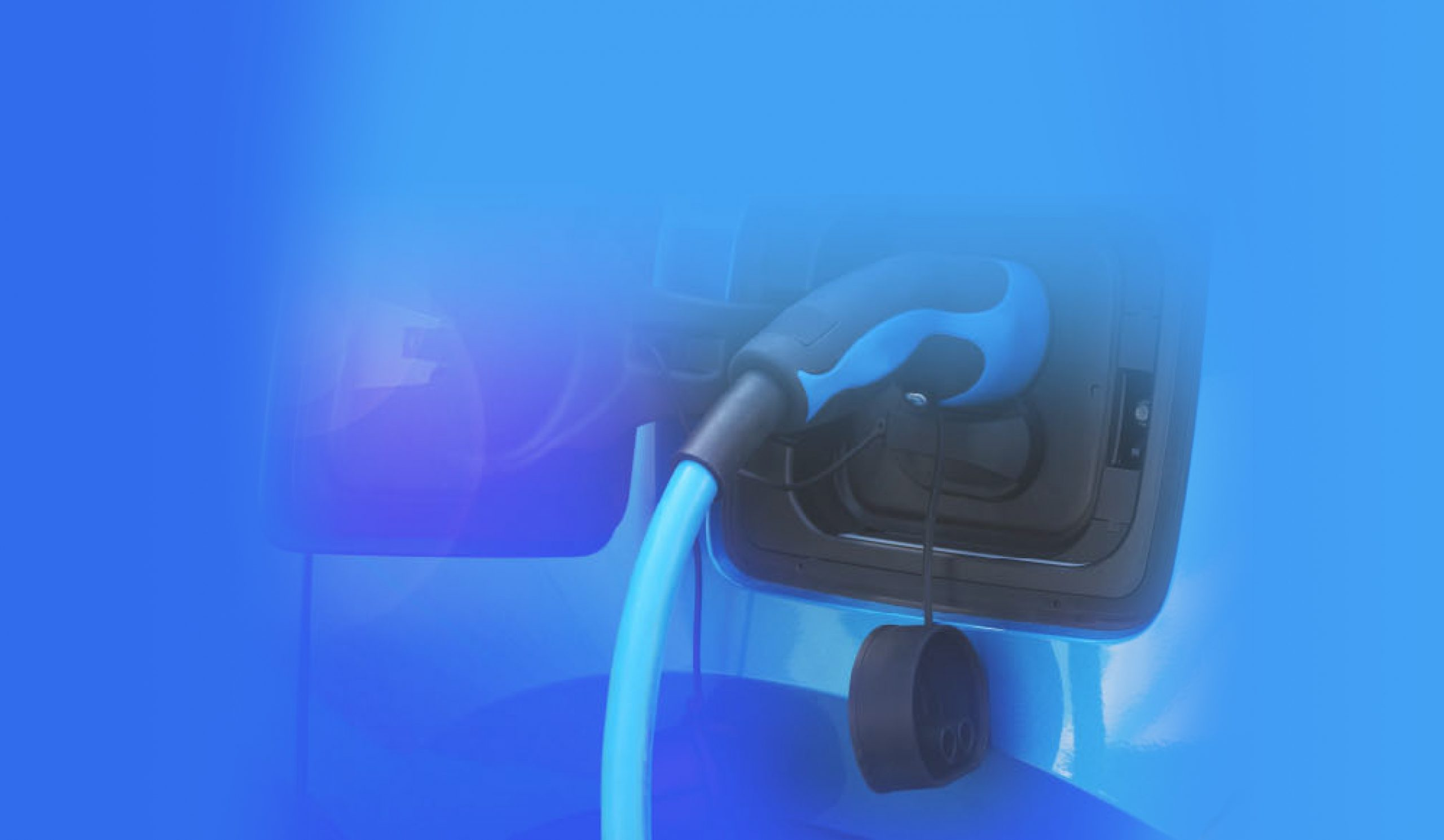 close up of electric car charging port