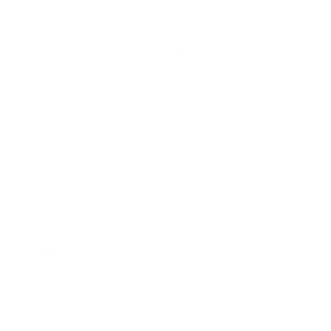 white vehicle infront of 2 white leaves