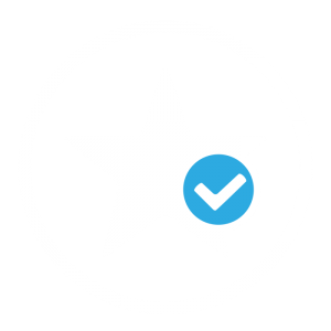 white star and blue tick